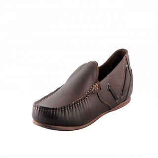 Totes Gallore Fine Leather Brown Slip On Men Loafers