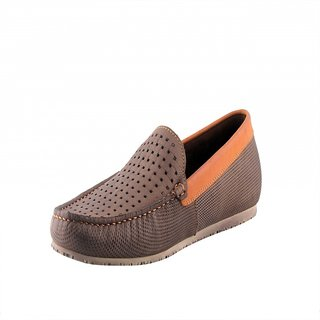 Totes Gallore Brown Color Pure Leather Slip On Loafers For Men