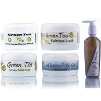Ayurvedic Skin Brightening Green Tea Fairness Face Pack