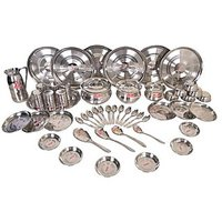 STAINLESS STEEL DINNER SET 51 Pcs. 100% Stainless Steel