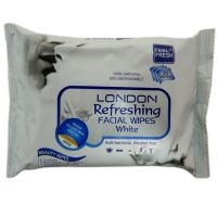 London Refreshing Facial Wipes (White)