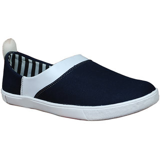 Glaze Men Slip-On Canvas Shoe - BlueWhite