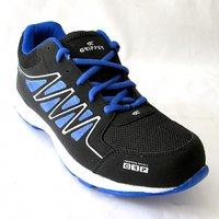 Decent Black +blue Sports Shoes