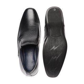 Bruno Manetti Gleaming Black Formal Shoes