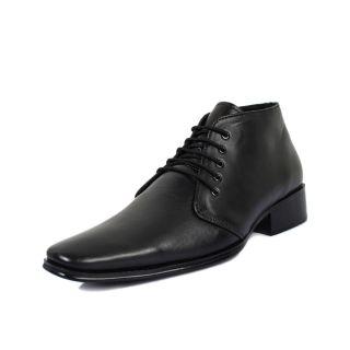 Bruno Manetti Vibrant Black Formal Shoes