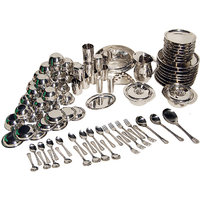 Stainless Steel 91 Pcs Dinner Set