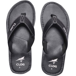 Black With White Color Clog Men Slippers - 83791740