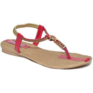 Lee Walk Womens Pink Sandels
