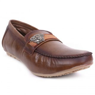 Foot N Style Brown Slip-On Loafers Fs3172