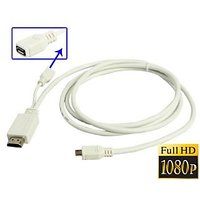 MHL Micro USB To HDMI Cable TV Out Adapter For Sony Xperia Z1 ZR SP HTC ONE M7