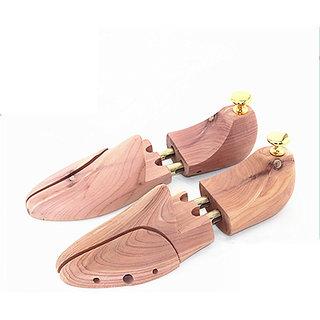 Cedar Wooden Shoe Tree Stretcher Shaper Keeper Adjustable Men US Size 9.5-10