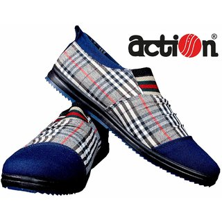 Action Men's Blue Printed Slip On Casual Shoes