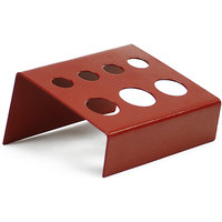 Tattoo Ink Cup Stand Holder Iron For 7 Caps - Red
