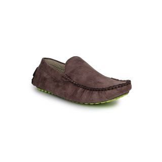 DIGNI BROWN Synthetic Slip On Mens Loafers
