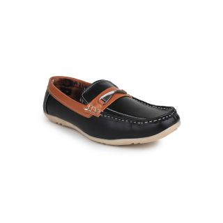 DIGNI BLACK Synthetic Slip On Mens Loafers - 83918557