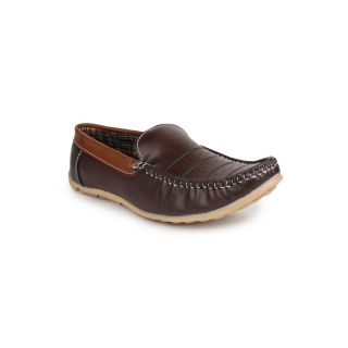 DIGNI BROWN Synthetic Slip On Mens Loafers - 83945017