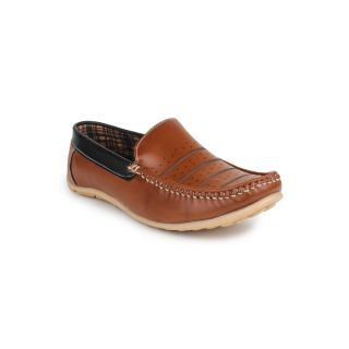 DIGNI TAN Synthetic Slip On Mens Loafers - 83944484