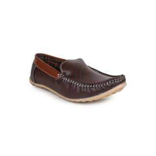 DIGNI BROWN Synthetic Slip On Mens Loafers - 83945487