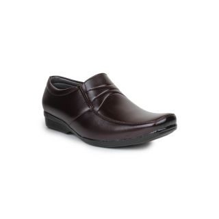DIGNI BROWN Synthetic Slip On Mens Formal Shoes