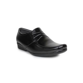 DIGNI BLACK Synthetic Slip On Mens Formal Shoes