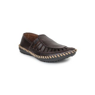 DIGNI BROWN Synthetic Slip On Mens Casual Shoes