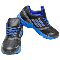 Triqer 757 Black Blue Sports Shoe For Men