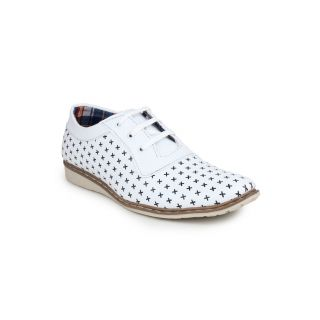 DIGNI WHITE Synthetic Lace-Up Mens Party Wear Shoes