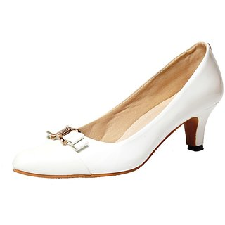 Port White Color Heeled Attractive Belly For Womens (6002)