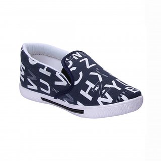 Scachite Navy Blue And White Casual Slip On Shoe