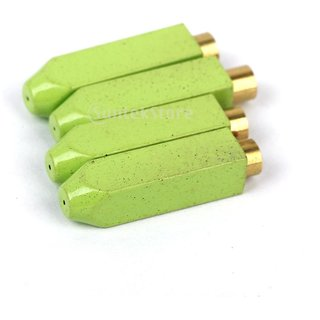 Footful Metal Aglets Shoe Laces Tips DIY Screw On Replacement 4pcs Green