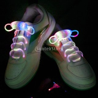 Rainbow LED Light Up Shoelaces Waterproof Shoestring-3 Modes (On&Strobe&Flashing)