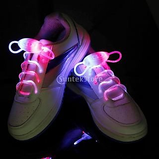 Blue And Pink LED Light Up Shoelaces Waterproof Shoestring-3 Modes (On&Strobe&Flashing)