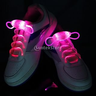 Pink LED Light Up Shoelaces Waterproof Shoestring-3 Modes (On&Strobe&Flashing)