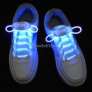 Blue LED Light Up Shoelaces Waterproof Shoestring-3 Modes (On&Strobe&Flashing)