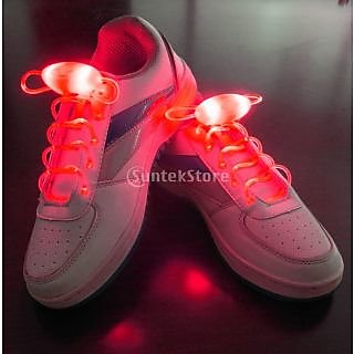 Red LED Light Up Shoelaces Waterproof Shoestring-3 Modes (On&Strobe&Flashing)