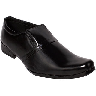 Gito Slip On Formal Mens Black Leather Shoes