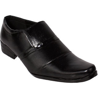 Gito Slip On Formal Black Leather Shoes For Mens