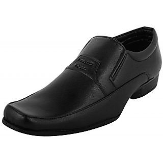 Indo Mens Black Synthetic Leather Formal Shoes (PRN0045NL)