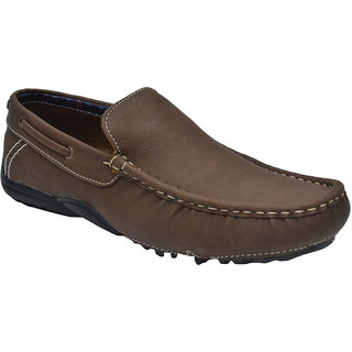 Prolific Slip-On Synthetic Loafer Shoes Tan