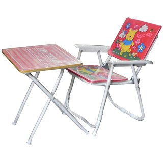Kids Folding Study Table and Chair Set available at ShopClues for Rs.779