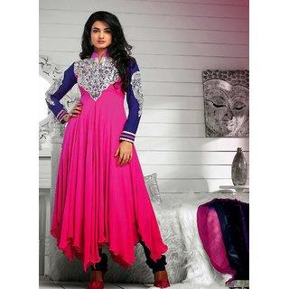 Sonal Chouhan In Pink Lush Pink Designer Salwar Kameez