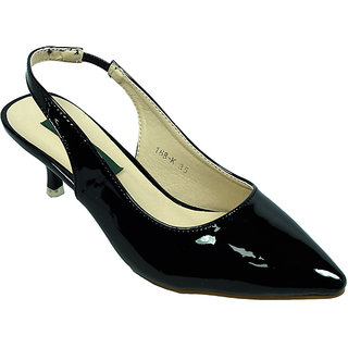 Regal Black Low Heeled Slip-on