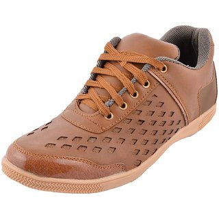 Hot Man Mens Light Brown Synthetic Casual Shoes - 6 UK