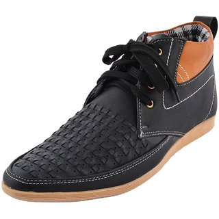 Hot Man Mens Black Synthetic Casual Shoes - 6 UK - 84358899