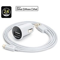 Capdase-Dual-USB-Pico-Car-Charger-with-Lightning-Cable-1.2M-White-(TKCB-B302)