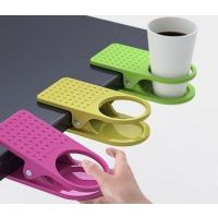 And Also Home Office Desk Table Clip Drink Cup Cans Coffee Mug Holder