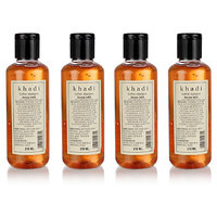 Khadi Herbal Henna Tulsi Shampoo - 210ml (Set Of 4)