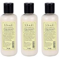 Khadi Herbal Orange Lemongrass Hair Conditioner - 210ml (Set Of 3)
