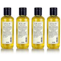 Khadi Herbal Shampoo With Honey  Lemon Juice - 210ml (Set Of 4)