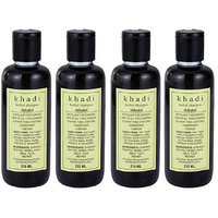 Khadi Herbal Shikakai Shampoo - 210ml (Set Of 4)